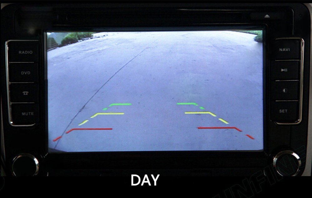 kunfine HD inal/ámbrico c/ámara de visi/ón Trasera para Coche para Benz Smart Camera Reverse Copia de Seguridad c/ámara de visi/ón Trasera c/ámara de visi/ón Nocturna LED luz Impermeable