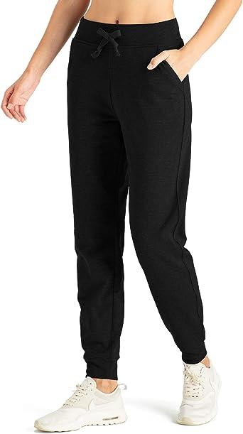 Womens Fabric Slim Jogging Pants Fleece Bottoms Lightweight New