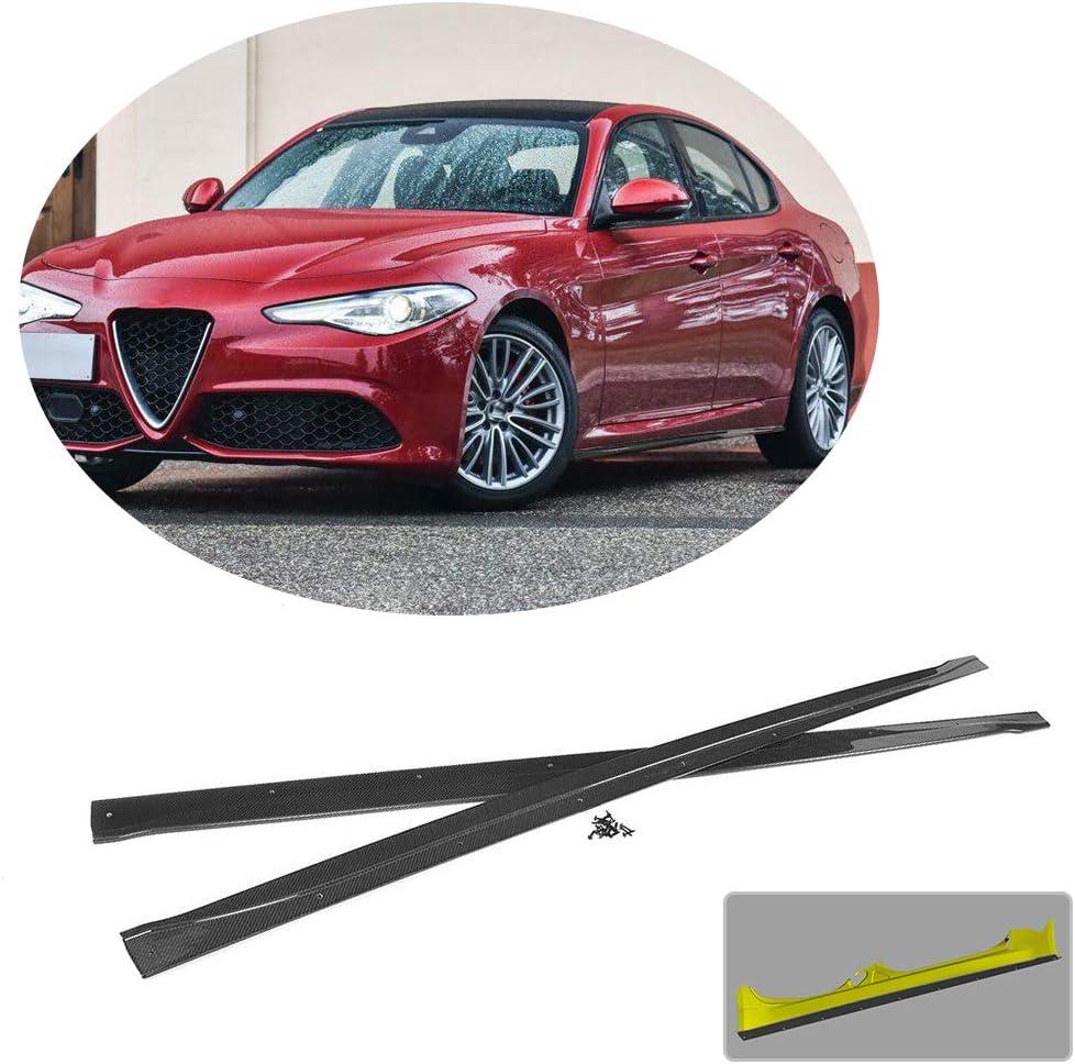 MCARCAR KIT Side Skirts fits Alfa Romeo Giulia Base Sport Sedan 2015-2018 Factory Outlet Carbon Fiber CF Under Door Rocker Panels Valance Extension Lip