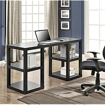 Amazon Com Altra Parsons Desk With Drawer Black Kitchen