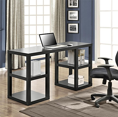 Altra Parsons Deluxe Desk, Black Oak