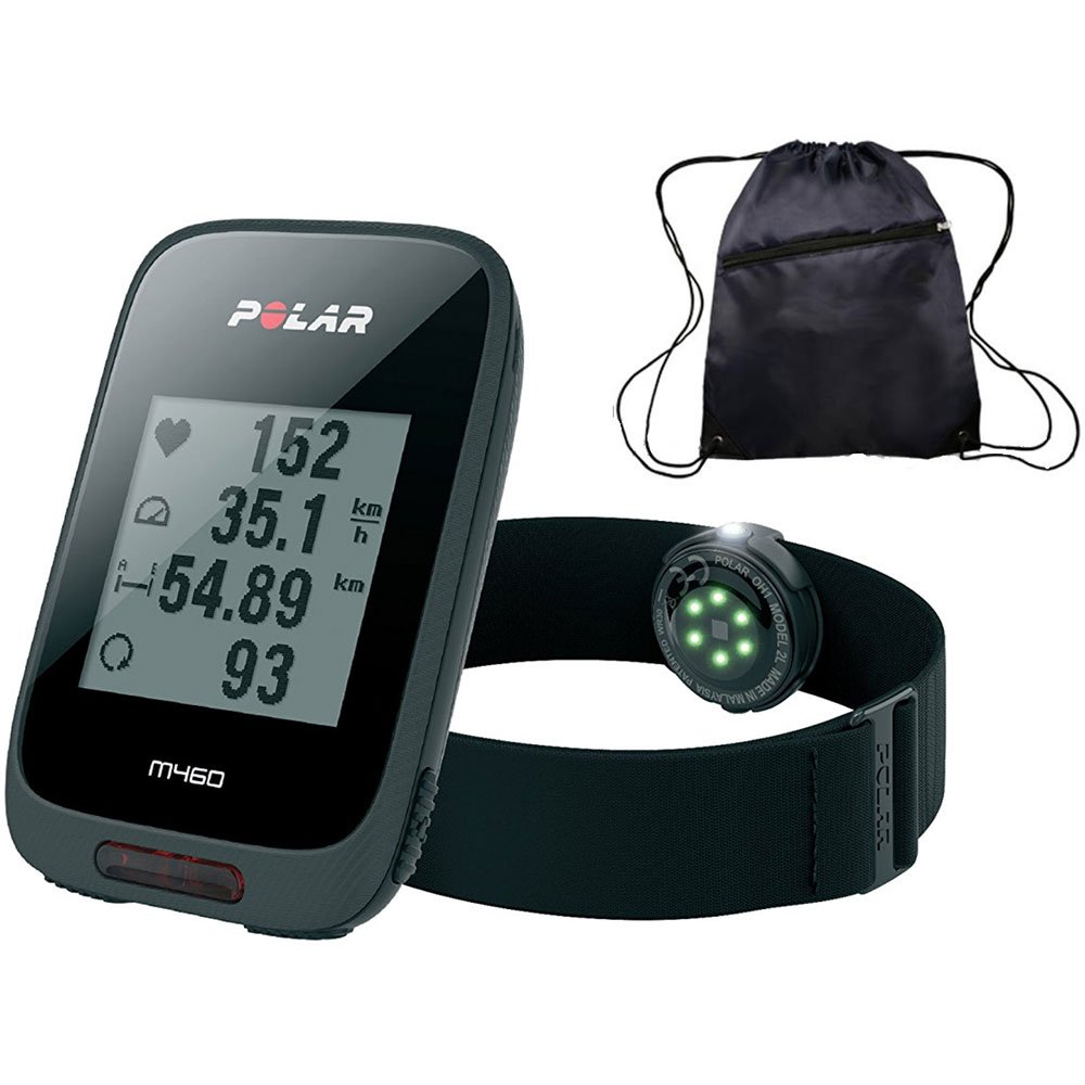 Polar M460 GPS Bike Computer with OH1 Heart Rate Monitor and Travel Cinch Bag