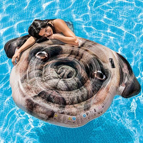 Amazon.com: Intex Pug Face Island inflatable: Toys & Games