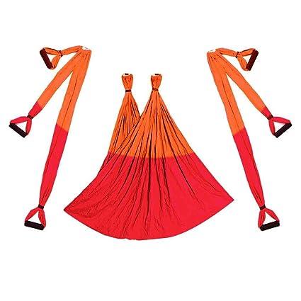 Bobury Aerial Yoga Swing Flying Hamaca Conjunto antigravedad 6 empuñadura Silla Colgante de Fitness Kit Pilates Oscilación de la Correa
