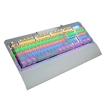 Zmsdt Manipulador De Teclado Teclado con Cable Juego Esports Comer Pollo Juego Botón Botón Teclado Programable De 104 Teclas (Color : Blanco): Amazon.es: ...
