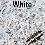Mighty Gadget (R) 1 LB White Crinkle Cut Paper Shred Filler for Gift Wrapping & Basket Filling
