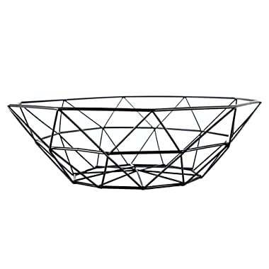 The living room fruit dish creative fruit bowl basket of fashion luxury candy dish dry pots (Black)