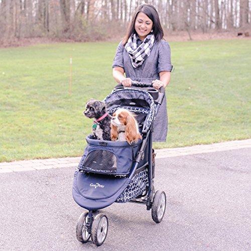 Gen7Pets-Monaco-Pet-Stroller-for-Dogs-or-Cats-Dress-Blues