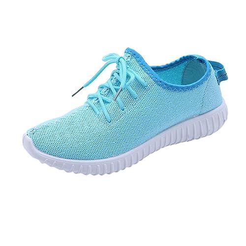 LHWY Sandalias de Vestir Chanclas Zapatillas de Deporte Transpirables de Malla de Moda para Mujer Zapatos Ocasionales Zapatillas de Deporte para ...