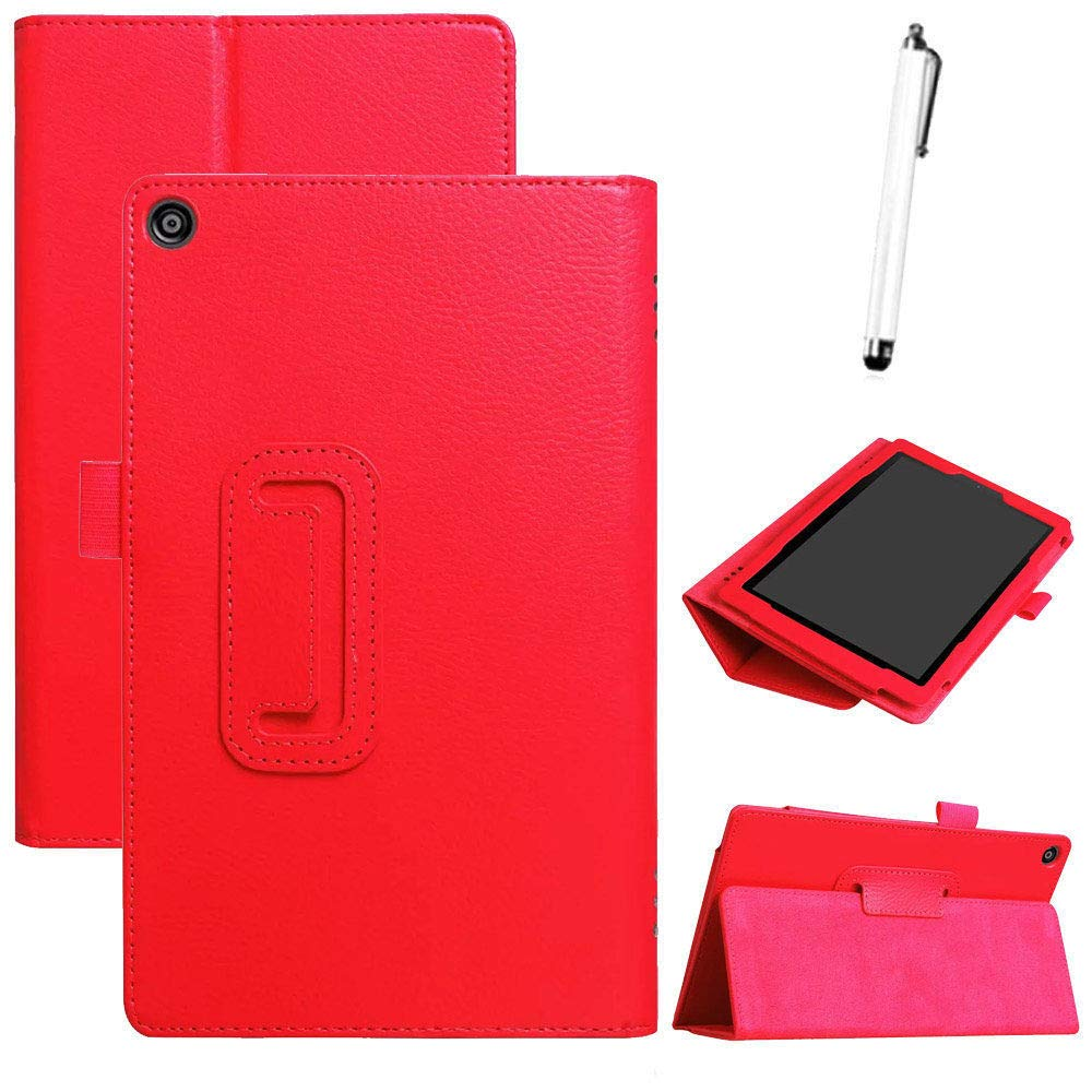 Valentines Best Gift!!Beisoug Best For  Kindle Fire HD 8 2018 8th Gen Ultra Slim PU+Leather Case Cover Stand