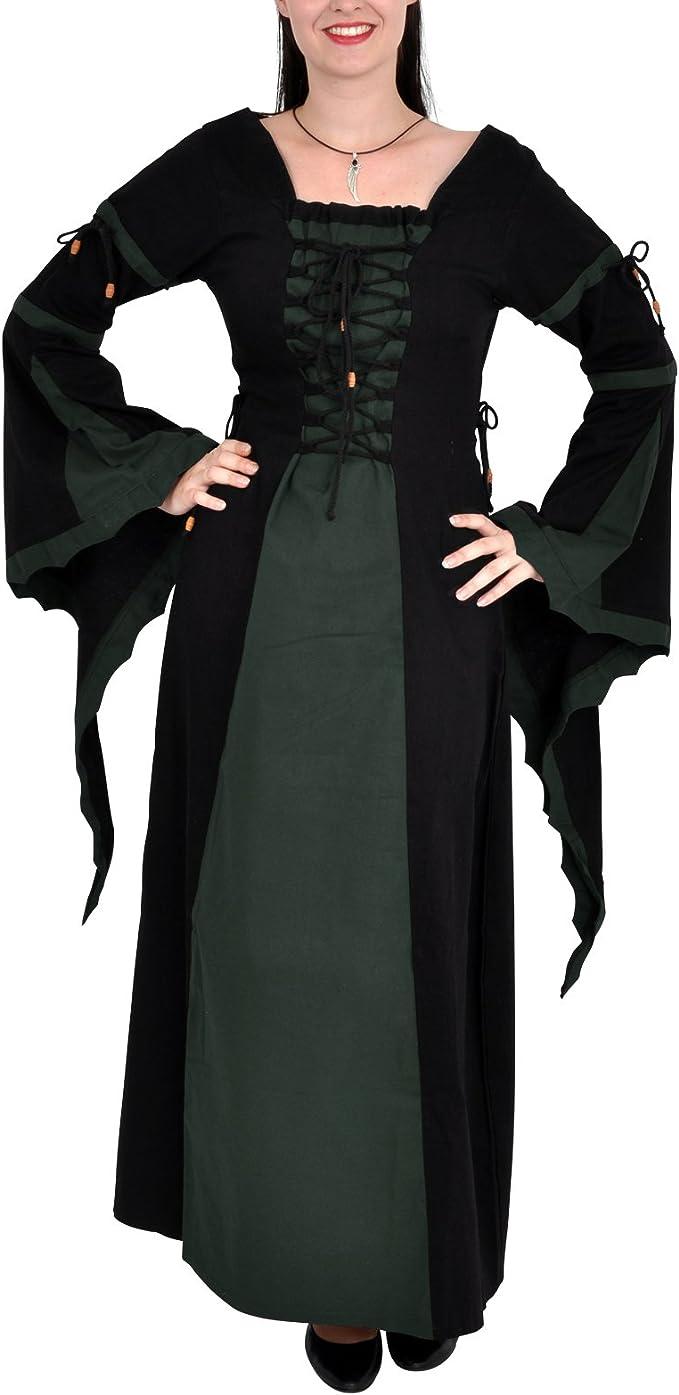 Vestido Medieval Leona - Disfraz medieval mujer - negro y verde ...