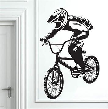pegatinas de pared buhos Bmx bicicleta bicicleta Biker niños decoración pegatina: Amazon.es: Bricolaje y herramientas
