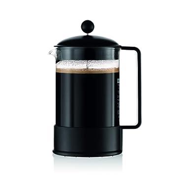 Bodum Brazil French Press Coffee Maker, 51 Ounce, 1.5 Liter, Black