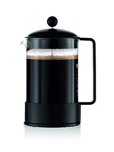 Bodum Brazil Francuski ekspres do kawy prasowej, 51 uncji, 1,5 litra, czarny