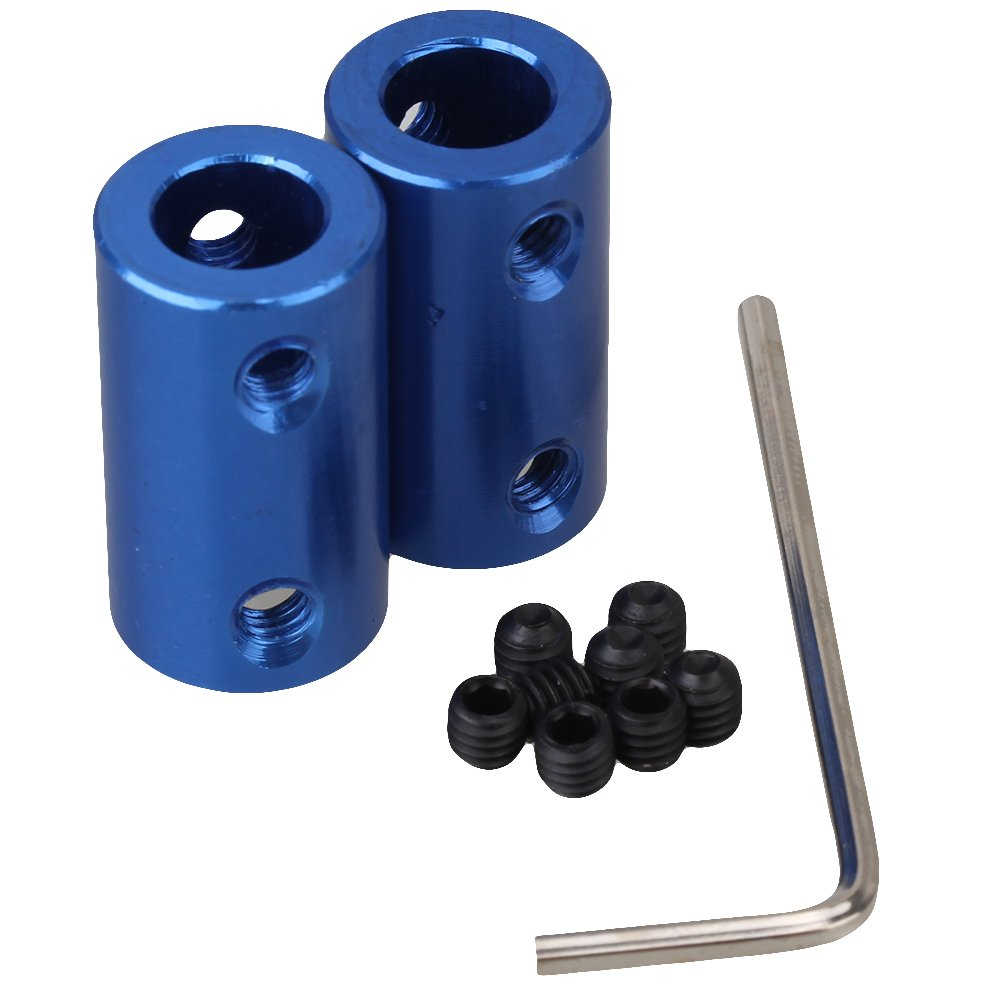 Cnbtr 2 pezzi blu D14L25 8 mm a 8 mm in lega di alluminio albero motore rigid accoppiatore connettore yqltd CNBTR17