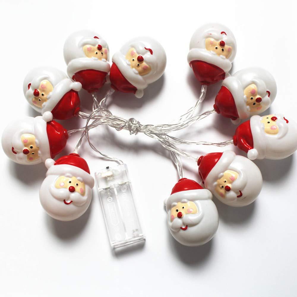 Christmas Decorations Sale,Colorful(TM) Christmas 10 LED String Light Snowman Santa Claus Fairy Light Party Home Decor (A)