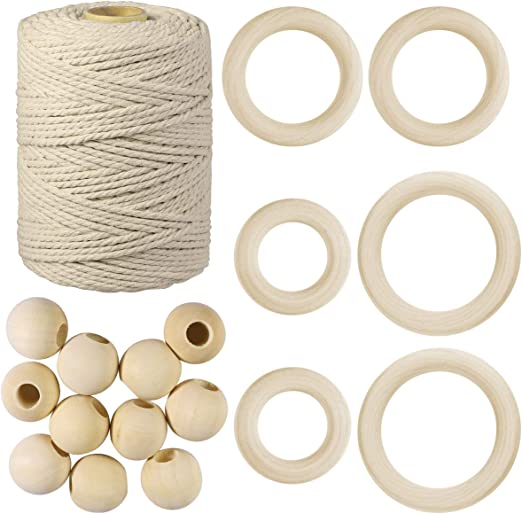 SUPVOX Cuerda de macramé de algodón Natural para Tapiz de Pared ...