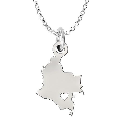 all'ingrosso online comprare a buon mercato presa di fabbrica Colombia ciondolo collana in argento Sterling | | Country ...
