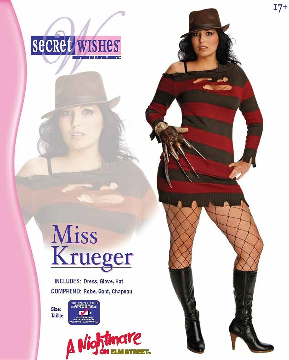 Amazon.com: Secret Wishes Nightmare On Elm Street Miss Krueger ...