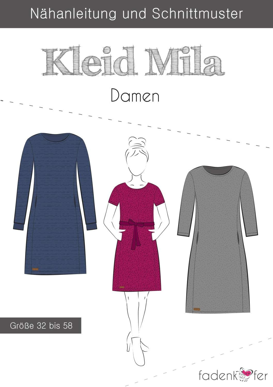 Stoffe Werning Schnittmuster Fadenkäfer Kleid Mila - Damen in den Größen 18  bis 18 Papierschnittmuster