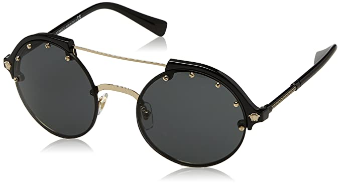 e6df979f0b6 Amazon.com  Versace Women s Studded Brow Bar Sunglasses