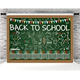 MMY 7x5ft Vinyl Back to School Party Photo Background Back to College Party Backdrops Students Knowledge Classroom Scene Chalkboard Learning Tools First Day of School Photo Prop Studio