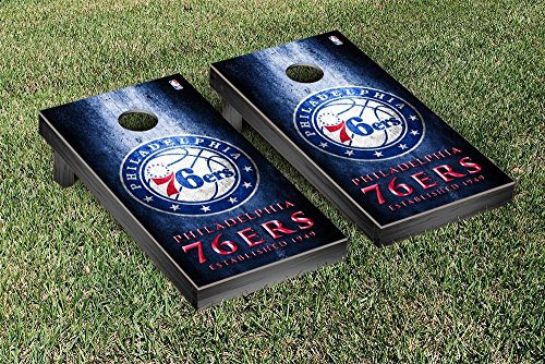 Philadelphia Sixers 76ers NBA Basketball Regulation Cornhole Game Set Museum Version by Victory Tailgate