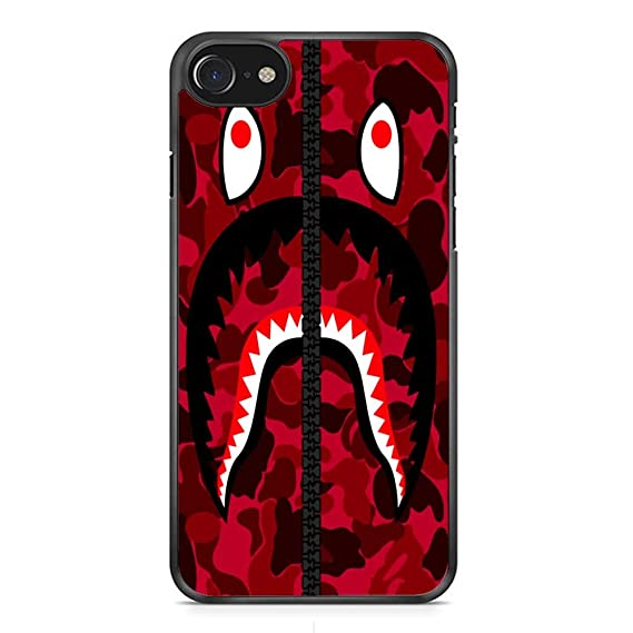 official photos eb772 927b4 Bape Shark Red Army iPhone 7 Case Black