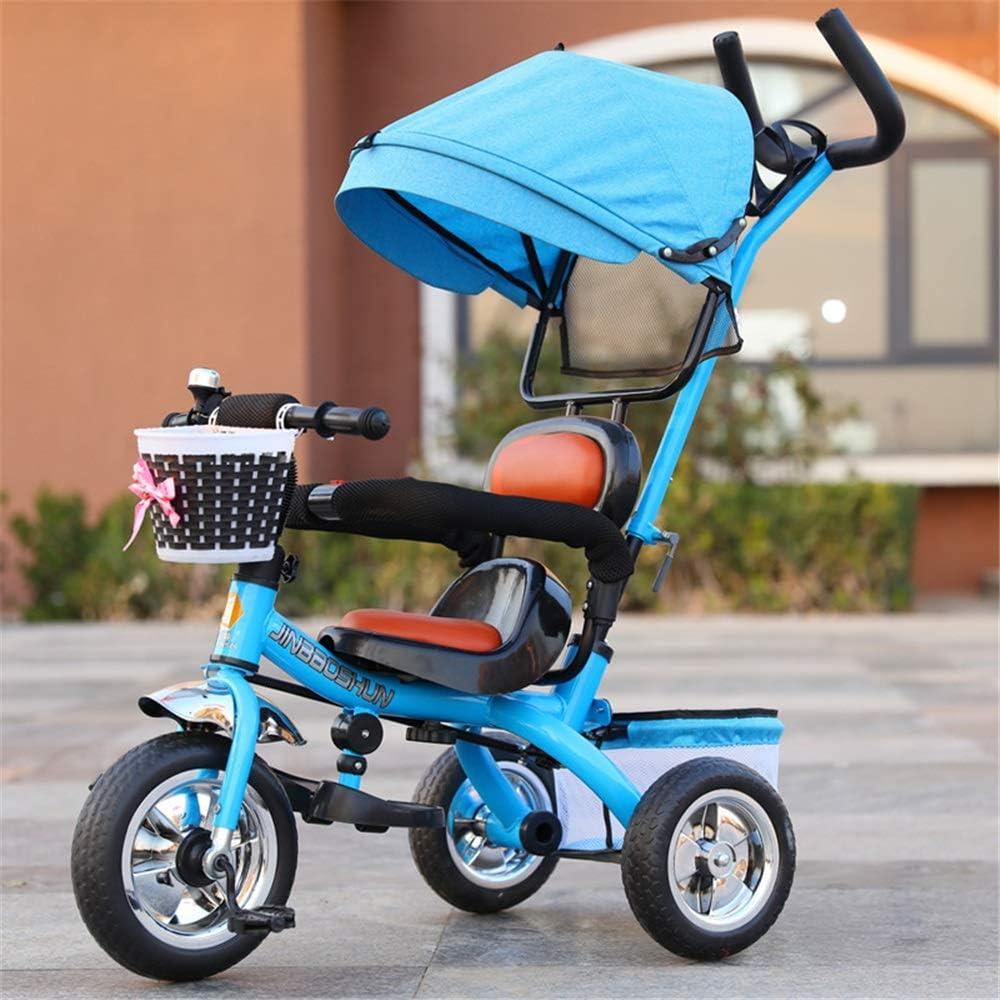 ZzheHou Triciclo para niños Triciclo for niños 7 en 1 Bebé con empujador Triciclo Giratorio reclinable Triciclo Plegable y liviano for niños pequeños Triciclo para niños Plegables