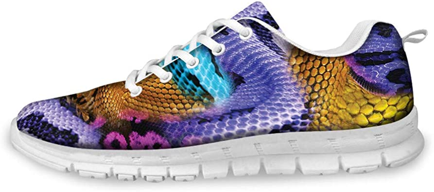 AXGM - Zapatillas de Correr para Hombre, Zapatillas de Deporte, Zapatillas de Calle, Piel de Serpiente: Amazon.es: Zapatos y complementos