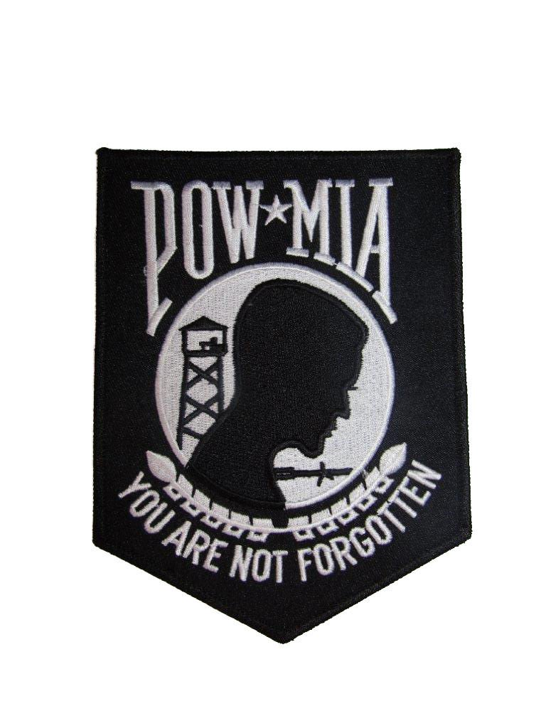 ALBATROS POW MIA Powmia Prisoner 4.5ftx6ft Black (6 Pack) Iron On Patch for Home and Parades, Official Party, All Weather Indoors Outdoors by ALBATROS