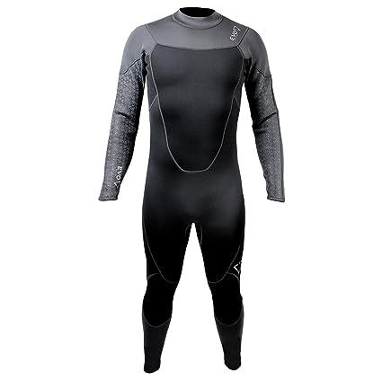 98fa6fc672 Amazon.com  evo Elite 3mm Full Scuba Wetsuit (Men s) M Black  Sports ...