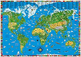 Descargar Libro Mapamundi Ilustrado Infantil En Castellano 100x70 Cm. Kruger. - 9783981025248 PDF Español