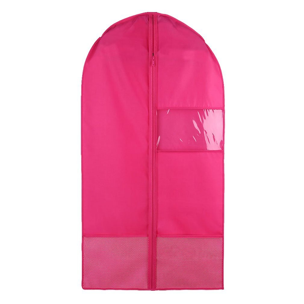 Nimiman Costume Garment Bag with Pockets for Dance Competitions Garment Bags Storage Hanging Breathable Garment Covers Bag (rose, S)