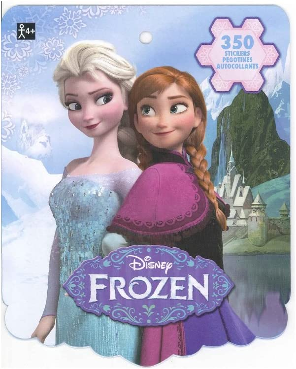 Disney Frozen Sticker Book for Kids (featured Elsa, Anna, Olaf, and Kristoff, over 350 stickers)-1 PACK