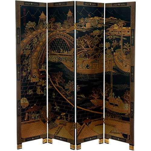 - Oriental Furniture 6 ft. Tall Ching Ming Festival Screen