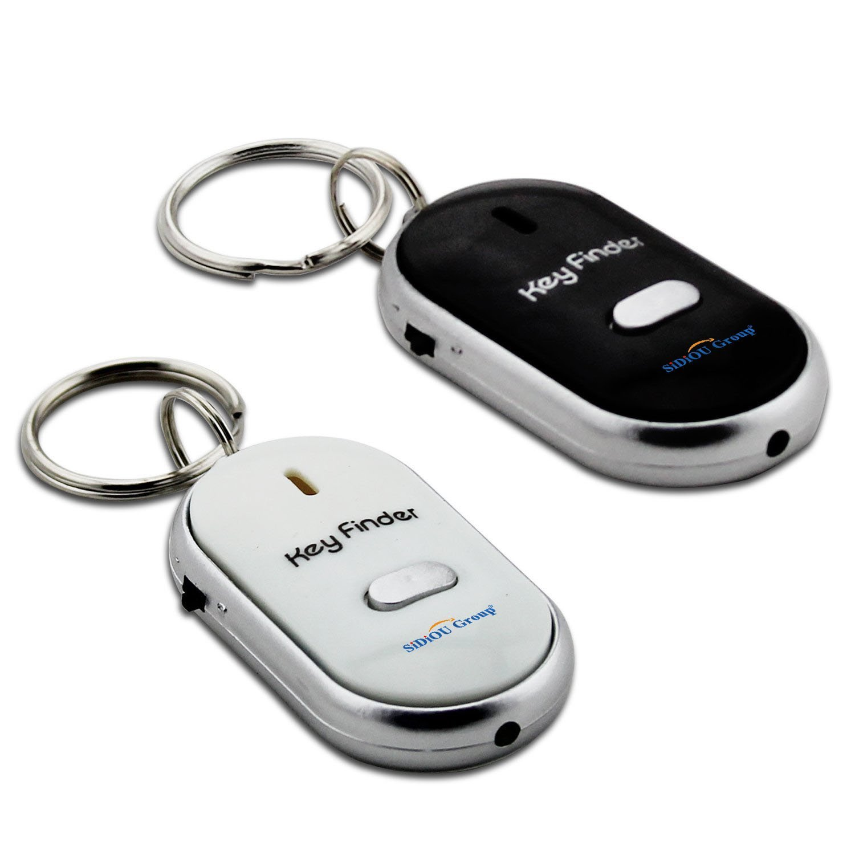 VANKER Nueva llevado silbido de Perdido Clave localizador del buscador de sonido Control Electrónico de encontrar las claves de la cadena uEcdFc8