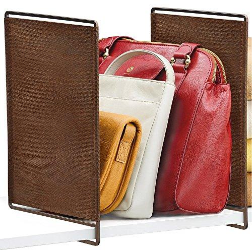 HomyDelight Closet Shelf Dividers (Set of 2) 4 lbs 2.13'' 13'' 8.38'' Bronze by HomyDelight