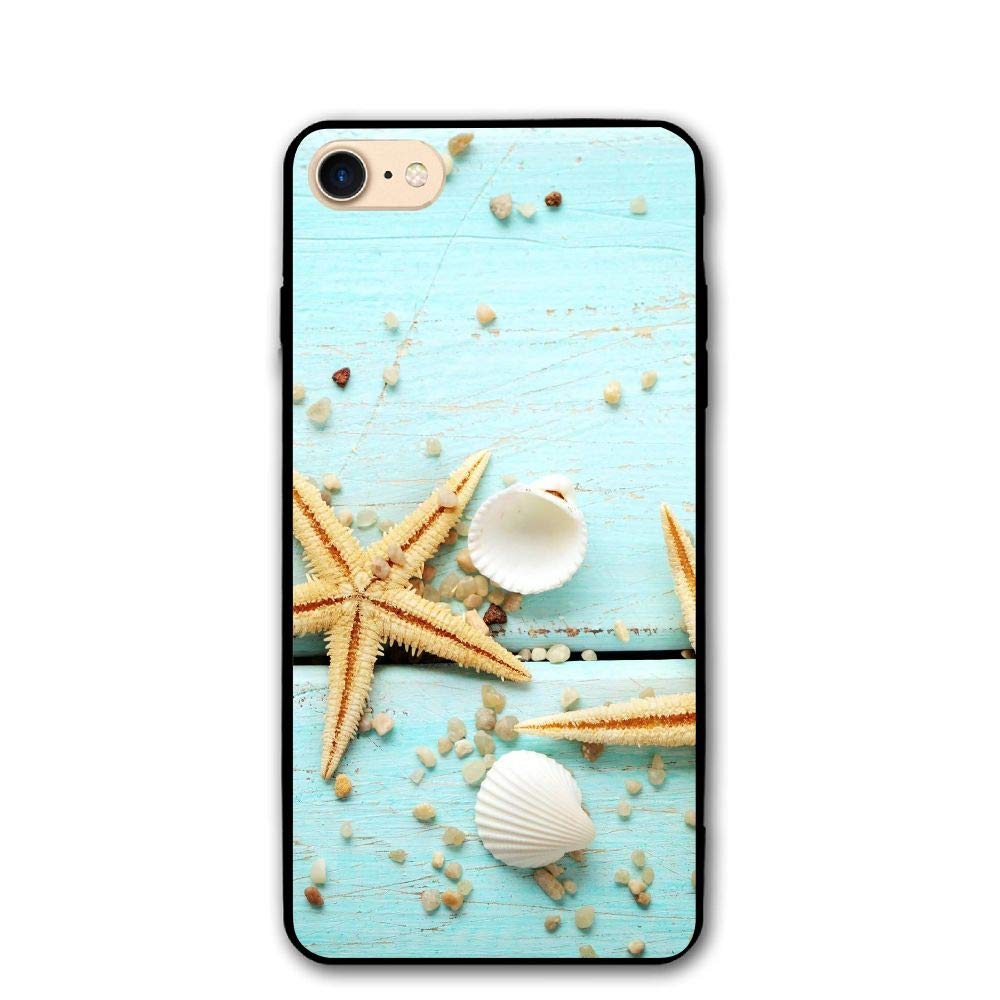 iPhone 8/8s Case Starfish Picture Anti-Scratch PC Rubber Cover Lightweight Soft Slim Printed Protective Case Amous