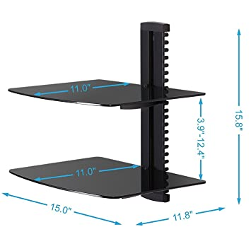 mount shelves shallow shelf wall floating tv mounted component