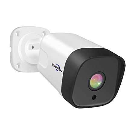 Audio PoE IP Camera, Hiseeu ProHD 1080p 2.0MP Outdoor Video Security Camera Wired , 18Pcs IR LED Night Vision Surveillance Camera, Waterproof Security Indoor Outdoor Motion Camera with H.265 ONVIF