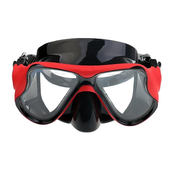 FLAMEER Buceo Adulto/Snorkel / Máscara De Apnea - Máscara De Silicona: Amazon.es: Deportes y aire libre