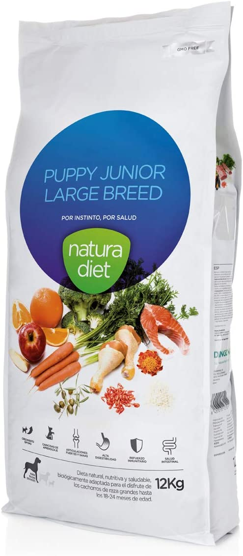 Natura diet Puppy Junior large breed 12 kgr Alimento Natural seco.