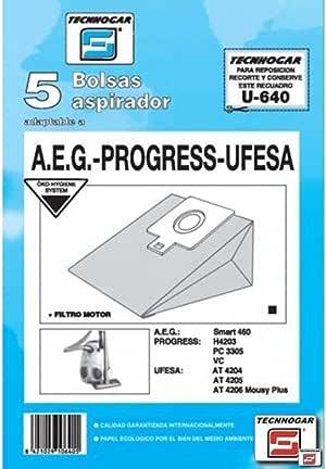 Tecnhogar - Caja 5 Bol. Asp.Ufesa At-4205/06: Amazon.es: Bricolaje y herramientas