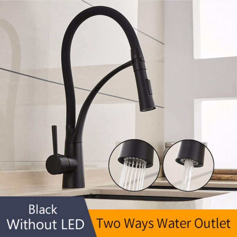 WYFC High Quality Brass Chrome Single Handle One Hole Rotatable Kitchen Sink Faucet Orange orange Green Black