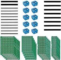 Anpro 50Stk leiterplatte Kit 20Stk PCB Universal Board 5x7 4x6 3x7 2x8CM Double Side Lochrasterplatte Lochrasterplatine...