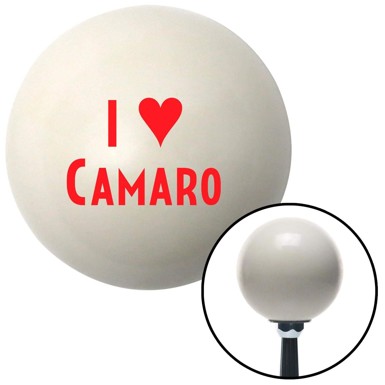 American Shifter 31295 Ivory Shift Knob with 16mm x 1.5 Insert Red I 3 Camaro