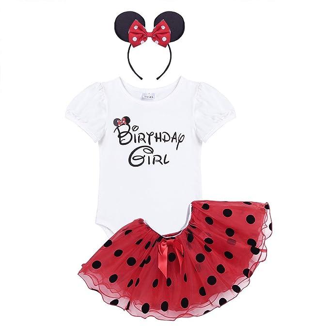 Freebily Disfraz de Fiesta para Bebé Niña (1-4 Años) Conjunto Vestido Infantil