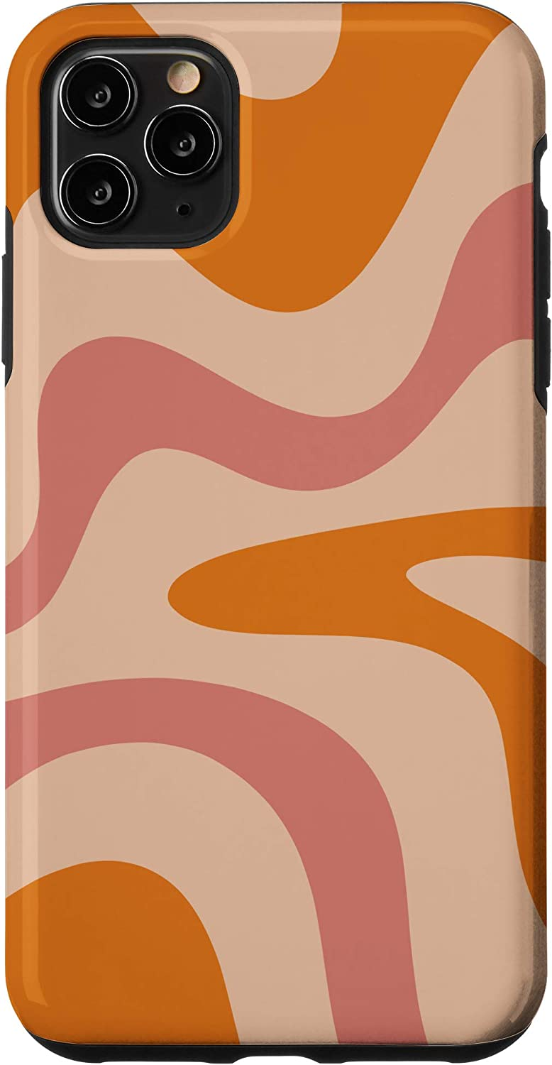 Pink gray swirl iPhone or Samsung Tough Case MESSYheart original design colors matte or glossy