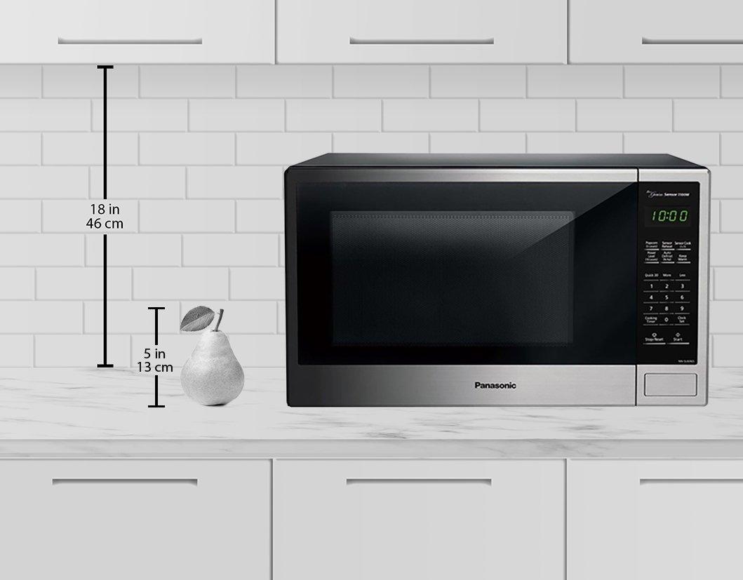 amazon com panasonic nn su696s countertop microwave oven with